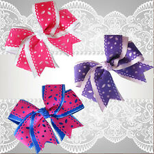 """50 BLESSING Happy Girl 4.5"""" Carving Cheer Hair Bow Clip Flower Hairbow"""