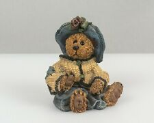 Boyds bear Christmas ornament, 1996, Girl bear wearing Hat and Sweater