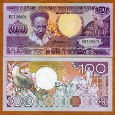 Suriname, Surinam, 100 Gulden, 1986, P-133a, UNC > Toucan