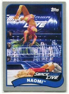 2018 Topps Heritage WWE Silver 53 Naomi 4/25