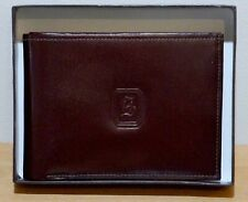 BEAUTIFUL H STERN MEN'S LEATHER BROWN WALLET - NEW IN GIFT CASE
