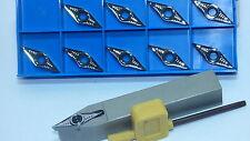 10x VCGT 160404-al k10 + 1 supporto SVVCN 1616 h16 Per Alluminio Ottone Rame Ecc.