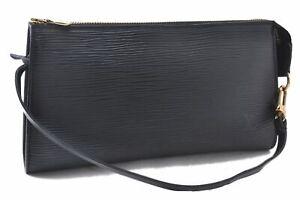 Authentic Louis Vuitton Epi Pochette Accessoires Pouch Black LV A5541
