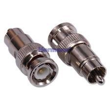 BNC Stecker auf Cinch (RCA) Stecker Adapter Verbinder Kupplung Koax