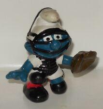 1982 Peyo Schleich Baseball Catcher Smurf #20146 PVC figure SMURFS Vintage