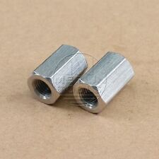 2Pcs M10 x 1.25 Long Rod Coupling Hex Nut Stainless Steel