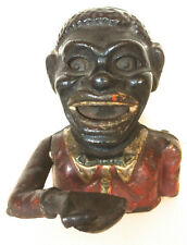 Vintage Cast Iron Bank Black Face Mechanical Coin Bank?