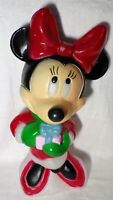 """Disney Minnie Mouse Christmas Blow Mold By Santa's Best 17"""" Holiday Decoration"""