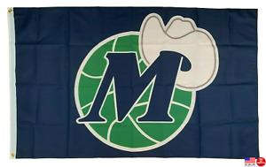 Dallas Mavericks 3x5 Man Cave Flag 3 x 5 Banner Mavs Retro Old School Throwback