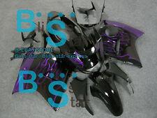 Flames Purple  Honda CBR1100XX CBR 1100 XX 1997-2003 Blackbird Fairing 06 D3
