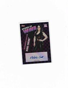 2021Topps WWE Slam Attax WOMEN OF WWE Nikki Cross Autograph Card UK Exclusive