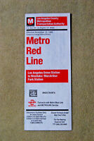 Metro Red Line Timetable - Nov 12, 1995