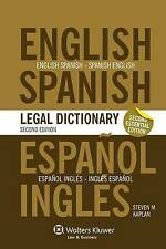 Essential English/Spanish and Spanish/English Legal Dictionary by Steven M...