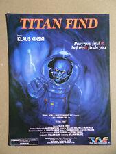 CREATURE - TITAN FIND - KLAUS KINSKI -  WILLIAM MALONE - SYNOPSIS HORREUR