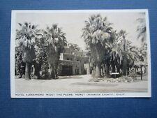Old 1930 - HOTEL ALESSANDRO - HEMET CA. - POSTCARD - Riverside County