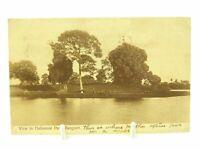 Antique printed postcard View in Dalhousie Park Rangoon Burma