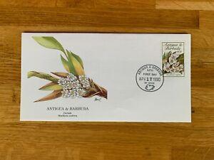 ANTIGUA & BARBUDA 1990 FDC FLEETWOOD AUDUBON FLOWERS ORCHIDS 02