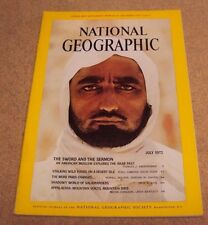 National Geographic July 1972 Middle East Wild Food Paris Salamanders Appalachia