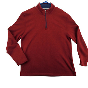 IZOD Sweater Men's Maroon Long Sleeve Sweatshirt Size XXL 1/4 Zip