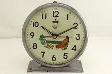 Vintage Animated Pecking Chicken Hen Alarm Clock China 1960's