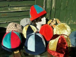 Velvet / Plain / Colourful Medieval Cap / Hats. Cosplay, LARP, Festival. NEW