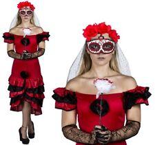 Día De Los Muertos señoras Halloween azúcar Calavera Disfraz Vestido De Lujo Mexicano
