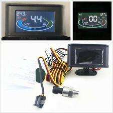 Car Truck 2in1 LCD Oil Pressure Gauge+Voltage Gauge 1/8 NPT Oil Pressure Sensor