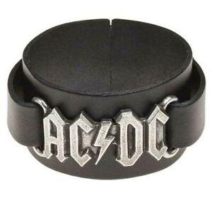 Alchemy Gothic AC/DC Black Leather Wrist Strap Official Band Merchandise HRWL446