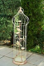 90 cm Teelichthalter Dekokäfig Vogelkäfig Laterne o Glas Metall Käfig Gartendeko