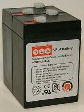 2 Pack - 6V 4.5AH SLA Battery Replaces cp0660 gp645 lcr6v4p hk-3fm4.5 FREE SHIP