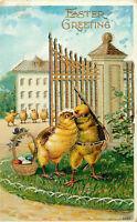 Postcard Easter Greetings, Embossed, Posted 1911