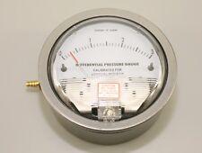 Differential Pressure Gauge vacuum 0-3 inch of water scuba service