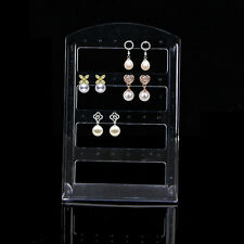 24 Holes Jewelry Earring Plastic Display Rack Stand Holder Organizer Show Case