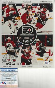 Philadelphia Flyers John LeClair autographed 8x10 composite  photo PSA DNA Cert