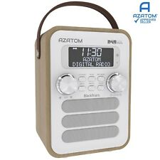 DAB Radio Home Speaker Digital Alarm Battery AZATOM Blackfriars LIGHT OAK