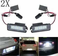 2x LED License Number Plate Light Lamps V~W Golf MK4 MK5 MK6 Passat Po.lo CC