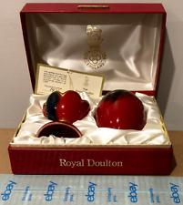 Royal Doulton Flambe - Egg With Stand, Box, & Coa #1421 of 3500 - Rare - Vintage