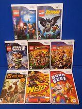 Nintendo Wii 8 Game Lot 5 Lego Adventures Indiana Jones 1 2 Batman Star Wars III