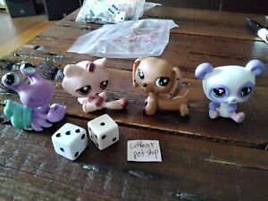 Monopoly pewter metal tokens mint Littlest pet shop Edition game board pieces 3