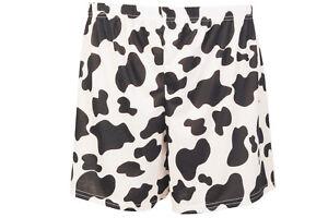 T62 Women Black & White Print Maternity Shorts Ladies Summer Trousers  Size 8-14