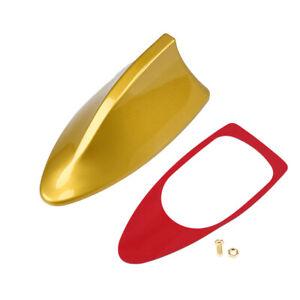 Fit BMW/Chevrolet Golden Shark Fin Antenna FM/AM Signal Aerial Universal