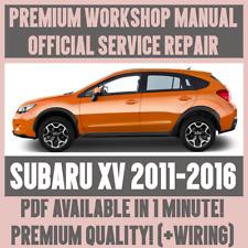 *WORKSHOP MANUAL SERVICE & REPAIR GUIDE for SUBARU XV 2011-2016 +WIRING