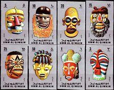 Umm al Qiwain 1972 ** Mi.653/60 B Masken Masks