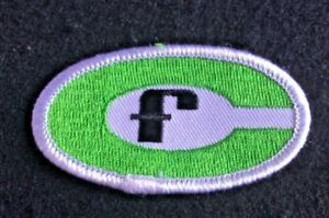 """FOREMOST CHEMICAL SEW ON PATCH GREEN AND WHITE OVAL LETTER F 3"""" x 1 1/2"""""""