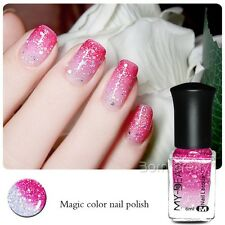 6ml Nail Polish Thermal Color Changing Peel Off Shimmer Nail Art Varnish Decor