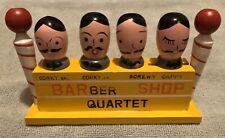 Vintage Bar Set ~ Barber Shop Quartet ~ Corks, Corkscrew, Bottle Opener