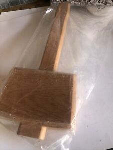 Wooden Mallet Hammer Solid Carpenter With Angled Striking Faces Woodworking Tool