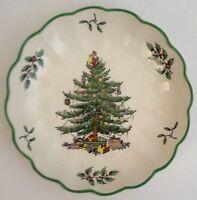 "Spode Christmas Tree 6.5"" Diameter Fluted Edge Bowl Plate Dish"