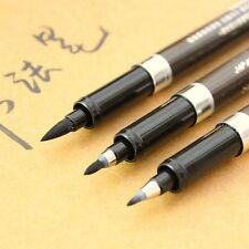 3pcs Calligraphy Pens Material Brush Set Black Ink For Signature Art Crafts Draw
