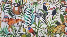Prestigious King of The Jungle Safari Childrens Cotton Curtain Craft Fabric